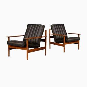Model 1001 Lounge Chairs by Sven Ivar Dysthe for Dokka Mobler, 1960s, Set of 2