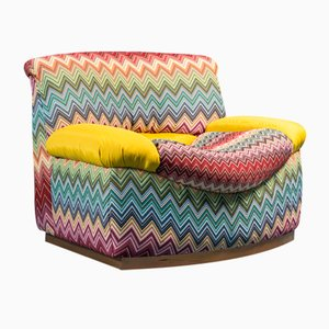 Vintage Chair in Patterned Missoni Fabric, 1970s
