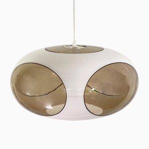 Vintage White Ceiling Lamp by Luigi Colani for Massive
