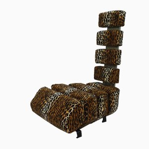 Panther Print Lounge Chair, 1990s