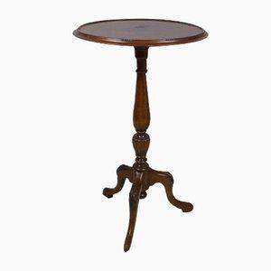 Mahogany Pedestal Console Table