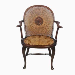 Edwardian Beech Bergere Armchair