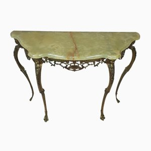 Onyx & Brass Console Table