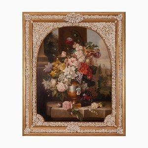 Carlo De Tommasi, Flowers, Oil on Canvas