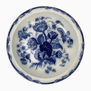 Antique English Blue Earthenware Serving Plate from Wedgwood, 1850s