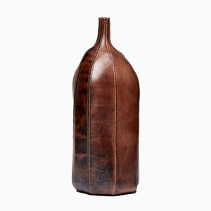 Hex 1st Form, Leather Vessel by Frances Pinnock, 2019