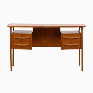 Danish Teak Free Standing Desk by Gunnar Nielsen Tibergaard, 1960s
