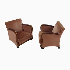 French Art Deco Armchairs, 1920s, Set of 2