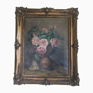 Antique Oil Painting on Canvas, 1920s