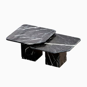 Vintage Marble Coffee Tables, Set of 2
