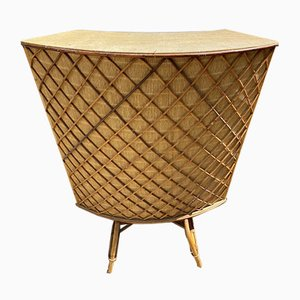 Vintage Bar Counter in Rattan, 1960s or 1970s