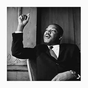 Martin Luther King in London Pigment Fine Art Baryta Print by Reg Lancaster