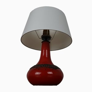 Fat Lava Ceramic Table Lamp from Kreutz, 1970s