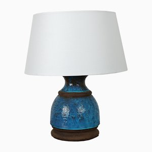 Table Lamp in Blue Ceramic from Bitossi, 1970s