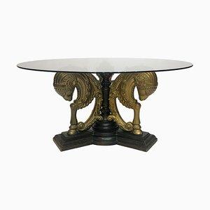 Hollywood Regency Brass Coffee Table, 1970s
