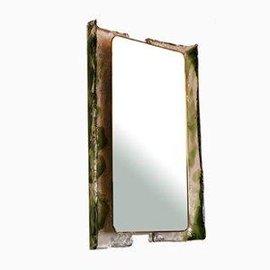 Back-Lit Glass Mirror by Carlo Nason for Mazzega, 1970s