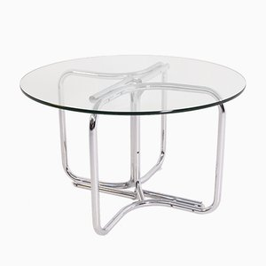 Steel and Glass Dining Table by Giotto Stoppino