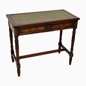 Antique Leather & Oak Writing Desk