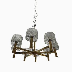Mid-Century Pendant Lamp with 8 Glass Shades