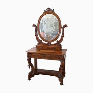 Antique Walnut Dressing Table, 1825