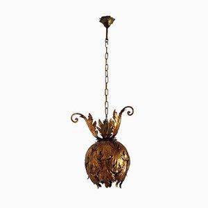 Mid-Century Italian Gilt Metal Pendant Lamp from Hans Kögl, 1960s