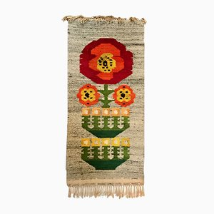 Scandinavian Wool Wall Rug, 1960s