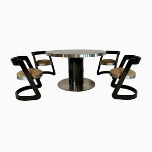 Dining Table & Chairs by Willy Rizzo, Set of 5
