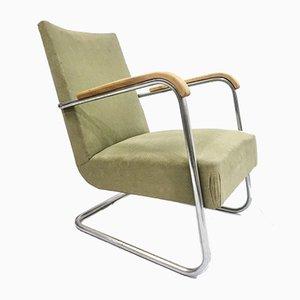Tubular Steel Armchair by Frits Schlegel for Fritz Hansen, 1930s