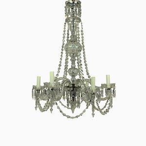 Antique English Cut Glass Chandelier