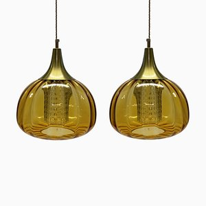 Pendant Lamps from Orrefors, Set of 2