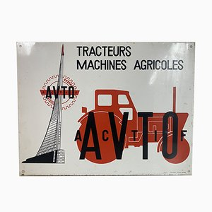 Vintage French Advertising Sign from Avto Actif
