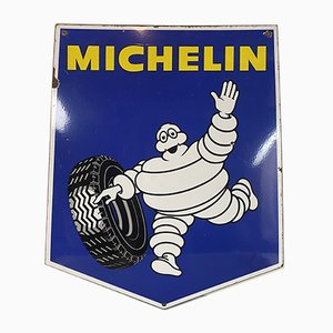 Enamel Garage Sign from Michelin Tires, 1960s
