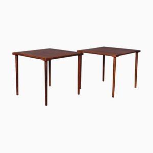 Danish Solid Teak Square Side Tables by Hvidt & Mølgaard-Nielsen, 1960s, Set of 2