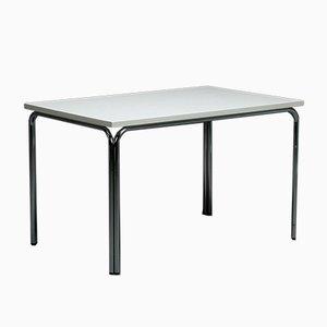 Rectangular White Chrome Thonet Table