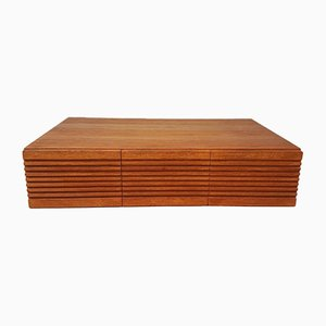 Mid-Century Teak Desk Top Storage Chest