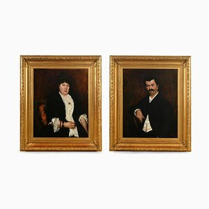 Portraits of the Vanderbilt Family, Georges C. Michelet, Set of 2