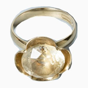 Gold and Rock Crystal Ring from Alton