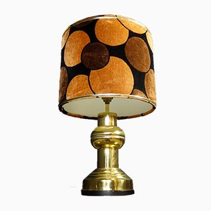 Regency Table Lamps with Fluffy Teddie Caps