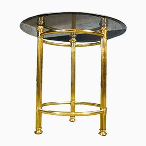Round Side Table with Glass Leaf
