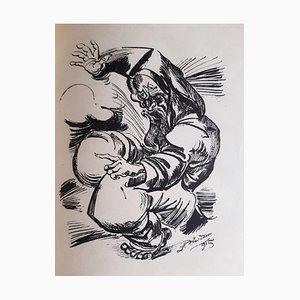 Im Nachen das Sternemeer, Book Illustrated by Ludwig Meidner, 1918