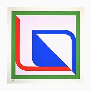 Carlo Lorenzetti, Color Interpenetration, Original Screen Print, 1969
