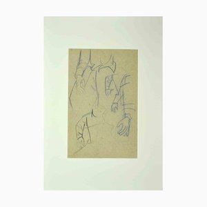 Unknown, Study of Hands, Original Pencil Drawing, Early 20th Century