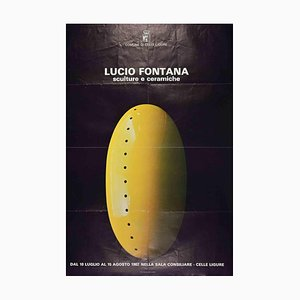 Lucio Fontana, Vintage Exhibition Poster, 1982
