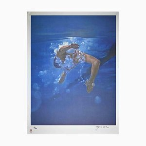 Kim Hyang, Swimmer, Original Lithograph, 2008