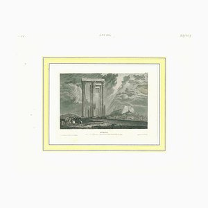 Unknown, Ancient View of Athens, Original Lithograph, Midy-19th Century