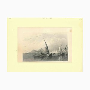 Unknown, Ancient View of Corfu, Original Lithograph, Mid-19th Century