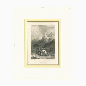 Unknown, Ancient View of Tronsberg, Original Lithograph, Mid-19th Century