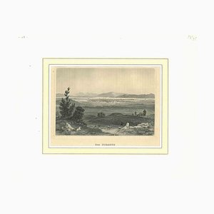 Unknown, Ancient View of the Piraeus, Original Lithograph, Mid-19th Century