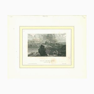 Unknown, Ancient View of Lisbon, Original Lithograph, Mid-19th Century