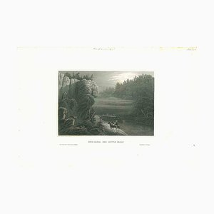 Unknown, Ancient View of Erie-Canal, Original Lithograph, Mid-19th Century